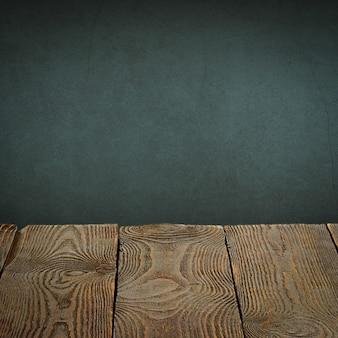 O plano de fundo é composto de placas de madeira em branco e uma parede texturizada gesso com iluminação e vinhetas. para demonstrações de produtos, espaço livre, layout, maquete, quadro de perspectiva, quadro de plano de fundo.
