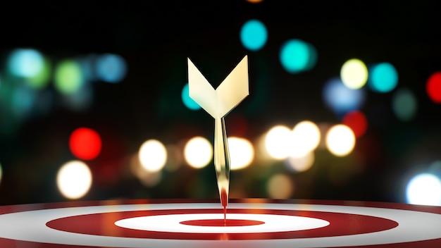 O plano de negócios foi bem-sucedido conforme a meta, imagem do sucesso dos objetivos traçados, renderização 3d