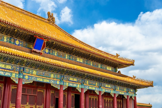 O portão da suprema harmonia na cidade proibida de pequim - china