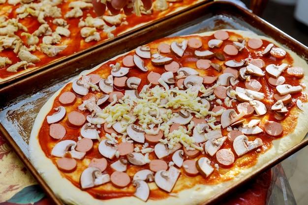 O processo de fazer uma pizza