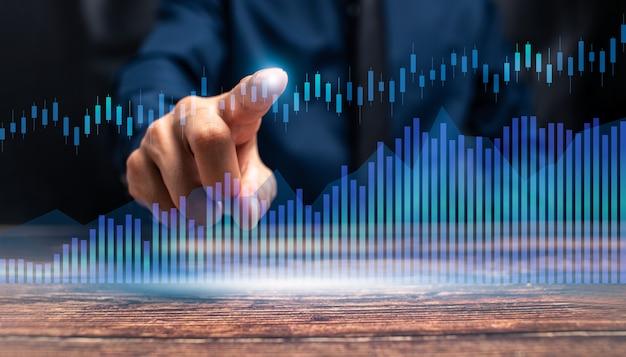 O progresso do crescimento do negócio ou o conceito de sucesso investem na ilustração comercial