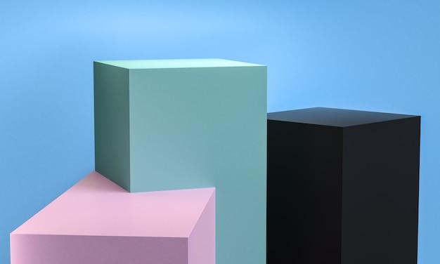 O projeto abstrato geométrico para o fundo, 3d rende, cartaz da tendência.