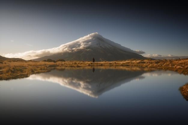 O reflexo do monte taranaki