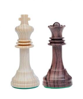 O rei branco e a rainha negra peças de xadrez
