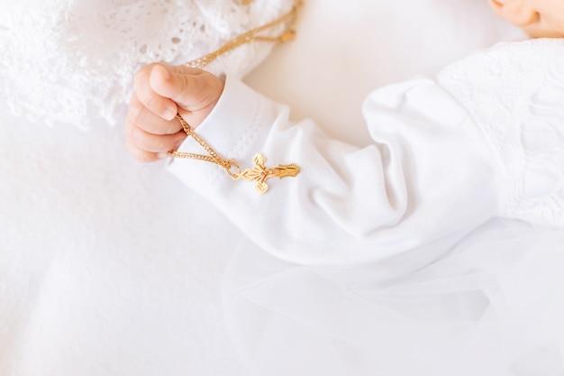 O sacramento do batismo de uma criança
