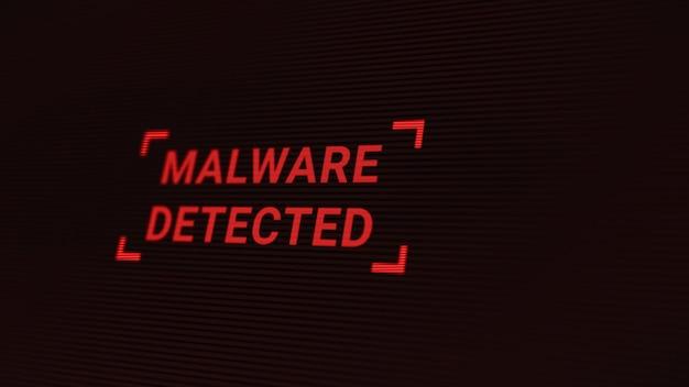 O servidor do computador foi atacado por malware por hacker, tela de alerta de proteção de segurança do sistema de dados de rede, ameaças futurísticas de cibersegurança digital ilustração 3d