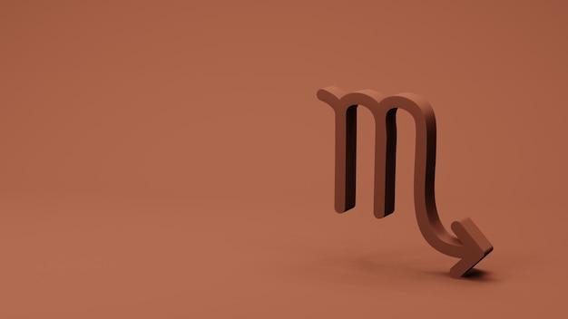 O símbolo do zodíaco scorpio assina renderização 3d
