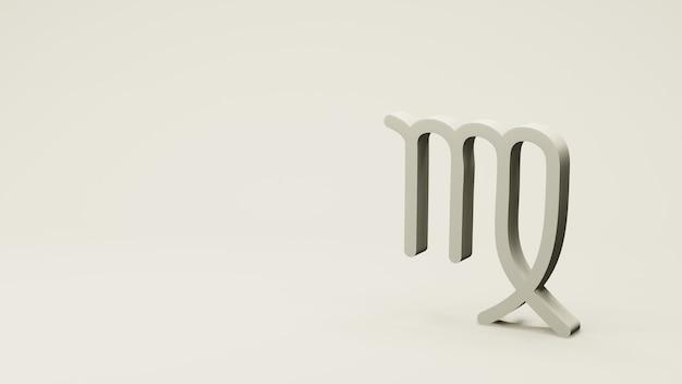 O símbolo do zodíaco virgo assina renderização 3d