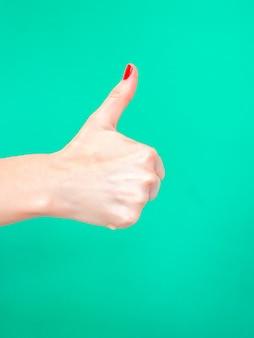 O sinal de polegar para cima