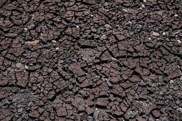 O solo é seco e rachado textura, abstrato