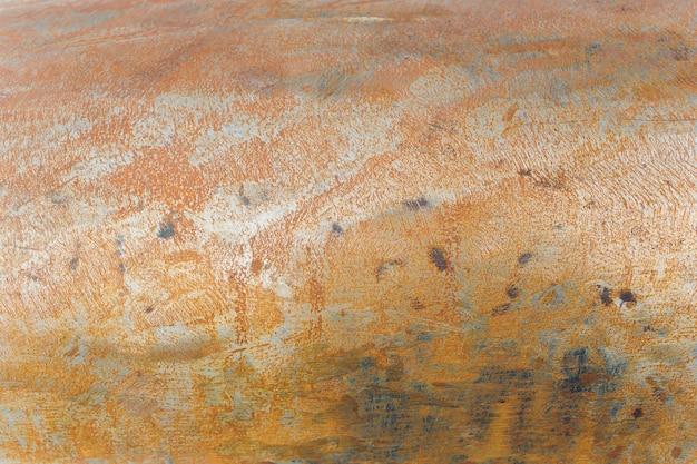 O sumário corroeu o fundo oxidado colorido do metal, textura oxidada do metal.