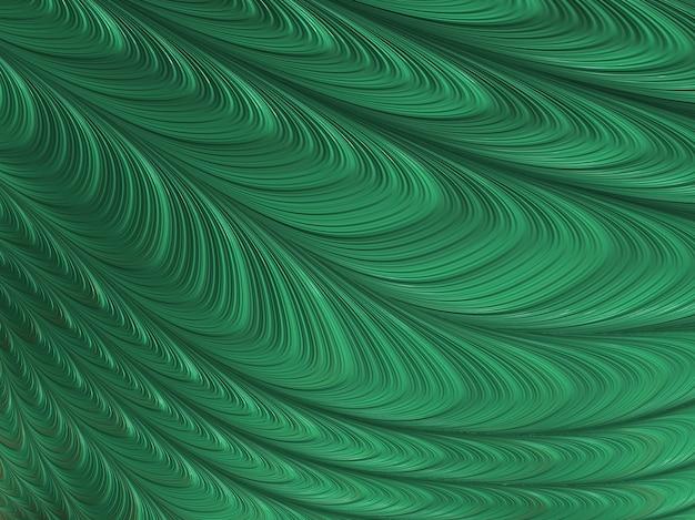 O sumário textured curvas verdes do fractal, 3d rende.