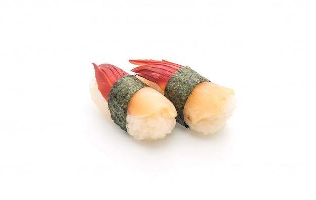 O sushi nigiri de moluscos de surf stimpson (hokkigai) - estilo de comida japonesa
