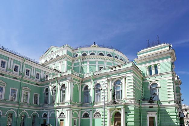 O teatro de ópera e ballet de mariinsky em são petersburgo, rússia
