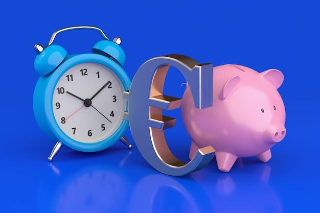 O tempo é o conceito de dinheiro. renderização 3d