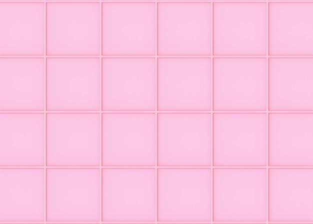 O teste padrão cor-de-rosa macio doce da arte da forma do quadrado do tom da cor telha o fundo da parede.