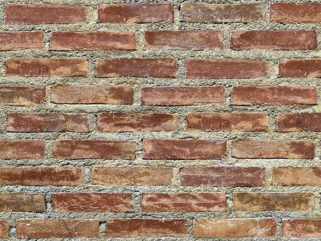 O tijolo vermelho resistido obstrui a parede para o fundo do vintage.