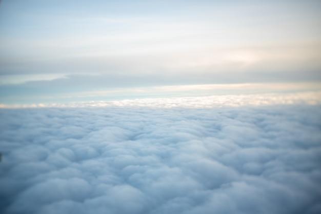 O topo da nuvem parece macio e macio.