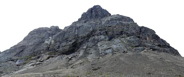 O topo das montanhas, khibiny e céu nublado