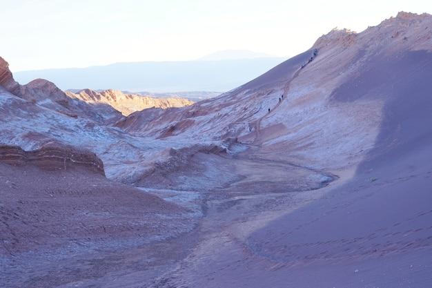 O vale da lua, deserto de atacama, o chile.