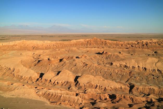 O vale da lua ou o vale da lua no deserto do atacama
