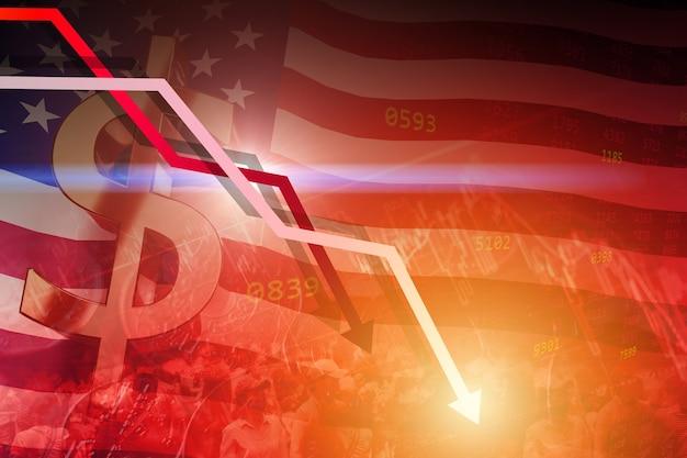 O valor do dólar americano caiu e a baixa taxa de juros do valor das ações da recessão econômica foi lenta e o conceito de problema de protesto.
