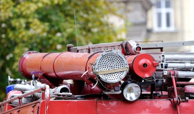 O velho caminhão de bombeiros