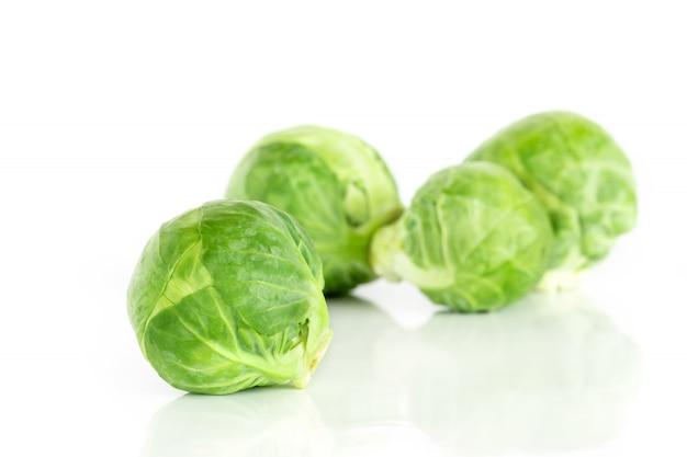 O verde fresco couve de bruxelas vegetal