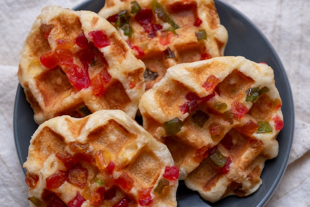 O waffle de compota