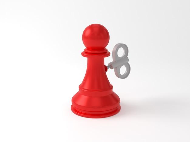 O xadrez de peão é como uma boneca mecânica