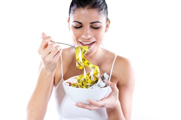 Obesidade sorrindo simile saúde jovem