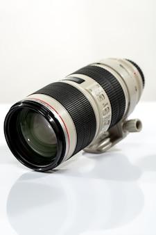 Objetiva separada da câmera