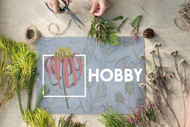 Objetivo de idéias de hobby de lazer de criação de design