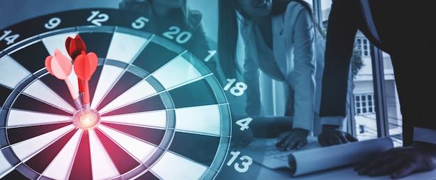 Objetivo de meta de negócios para conceito de estratégia de sucesso