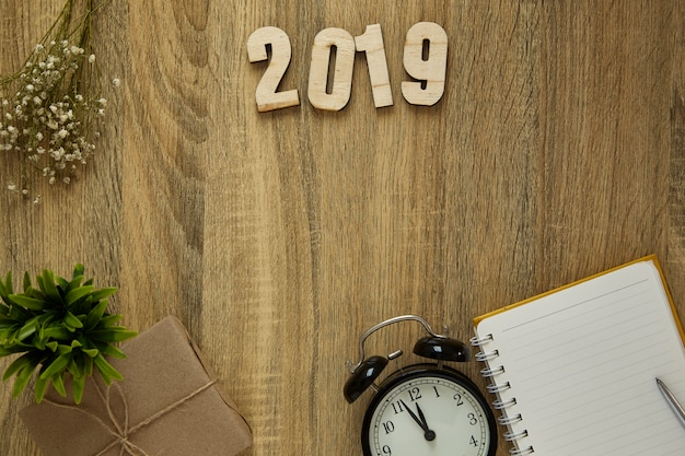 Objetivo de trabalho ano novo 2019 background