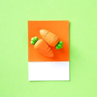 Objeto de brinquedo de vegetais de cenoura