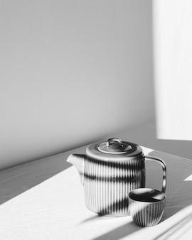 Objetos e sombras de conceito mínimo abstrato