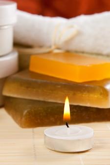 Objetos para cuidados com o corpo e spa