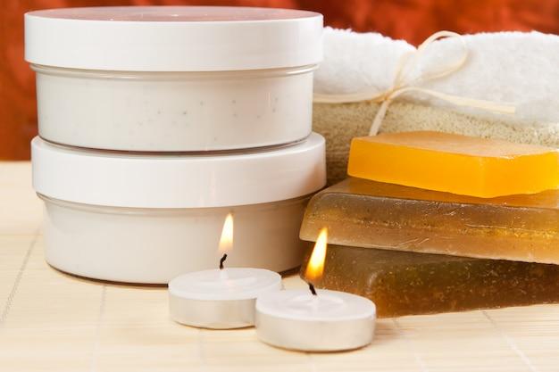 Objetos para spa e cuidados com o corpo
