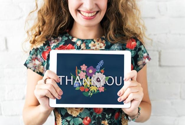 Obrigado agradecimento grato feliz