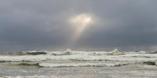 Oceano, ondas, cox, baía, pacífico borda parque nacional reserva, tofino, ilha vancouver, columbia britânica,