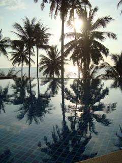 Oceano tropical piscina vista