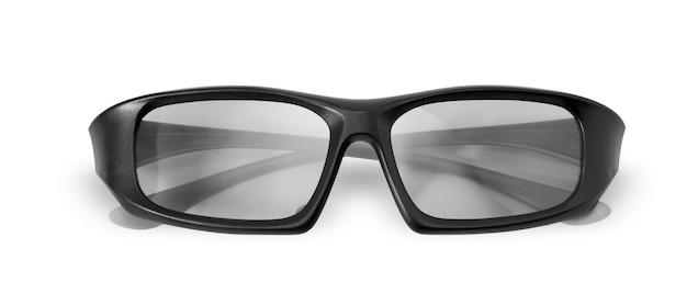 Óculos 3-d isolados / olhos de óculos traseiros isolados no fundo branco - com traçado de recorte