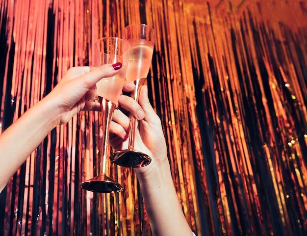 Óculos de champanhe