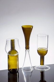 Óculos de elegância. artigos de vidro