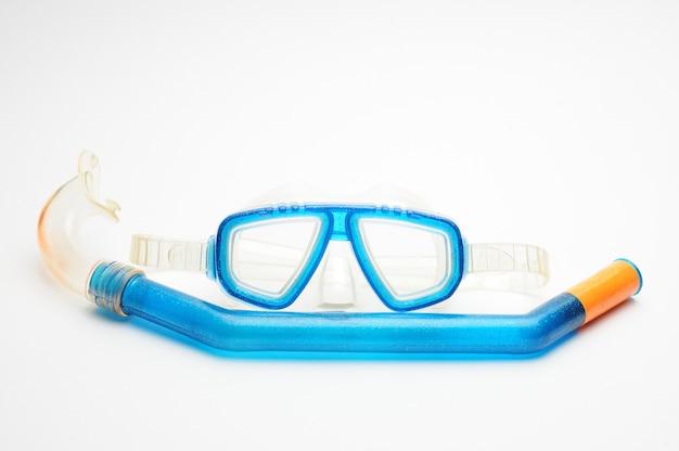 Óculos de máscara de mergulho com tubo respiratório isolado