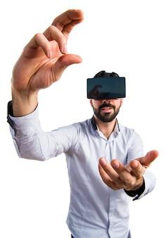 Óculos de moda do espaço do jogo 3d
