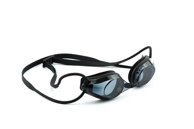 Óculos de natação em um fundo branco