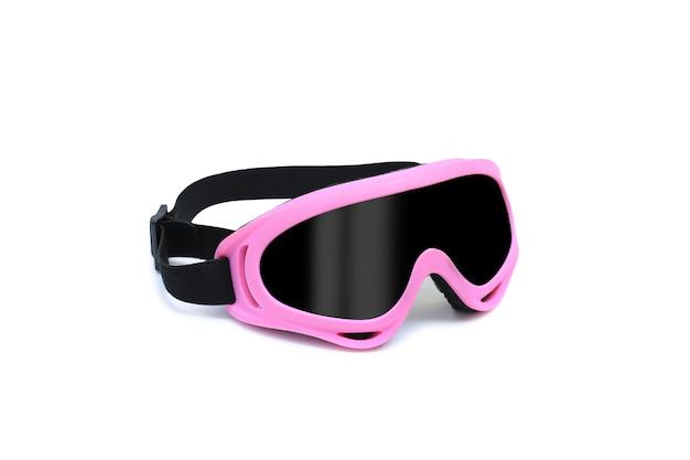 Óculos de proteção ou óculos de segurança isolados no fundo branco. óculos de proteção de plástico para trabalho - traçado de recorte