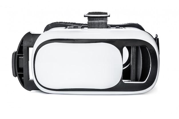 Óculos de realidade virtual no fundo branco
